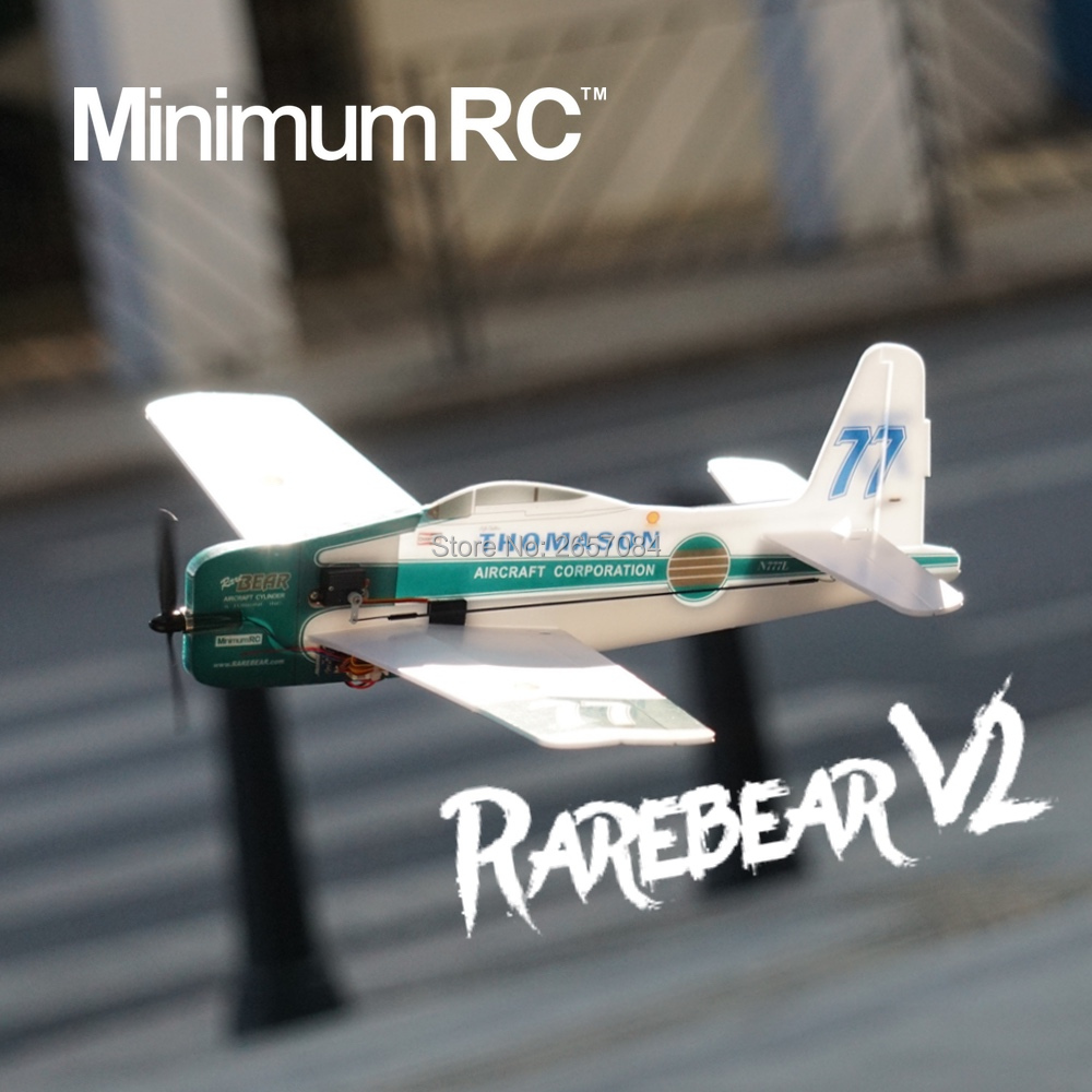 MinimumRC F8F-Rarebear V2 360mm Wingspan 4 Channel Trainer Fixed-wing RC Airplane Outdoor Toys For Children Kids Gifts image