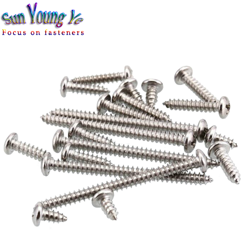Panel Screws 100Pcs M1.4 M1.7 M2 M2.3 M3 Micro Screws Round Head Self-tapping Electronic Small Wood Screws Nails Fasteners Color : 8mm, Size : M3