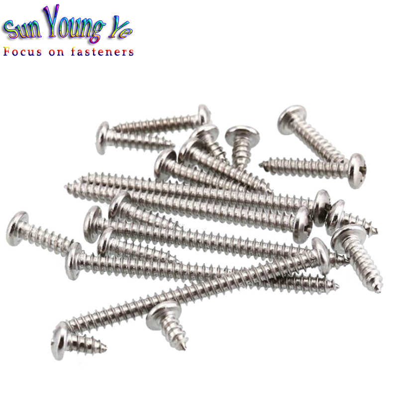 M1.2-M8 Phillips Round Pan Head Self Tapping Screw A2 304 Stainless Steel