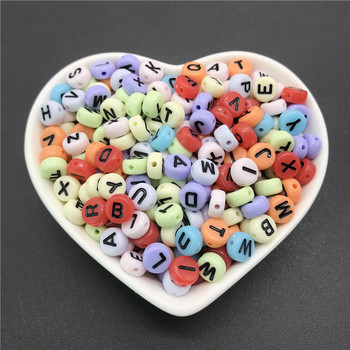 100pcs/lot 4x7mm Acrylic Spacer Beads Letter Beads Oval Alphabet Beads For Jewelry Making DIY Handmade Accessories 5