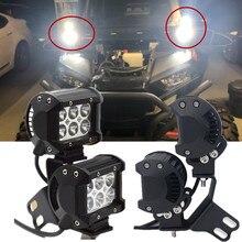 4szt 18W LED Pod podwójne światło przeciwmgielne z bocznym słupkiem uchwyt wspornika montażowego dla Polaris RZR XP 4 1000 900