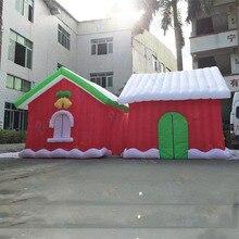 цена на 7Lx3x3.3m giant Christmas inflatable tent, inflatable Santa, inflatable Christmas house, Christmas decoration