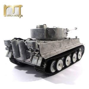Image 4 - MATO char RC en métal, 1220 100% G, char allemand Tiger 1, baril de combat à infrarouge, BB tir, prêt à fonctionner, VS Tamiya, 2.4G