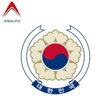 Aliauto Mode Auto Sticker Zuid-korea Wapenschild Decor Vinyl Decal Cover Krassen voor Hyundai Kia Rio Opel Astra, 12cm * 12cm(China)