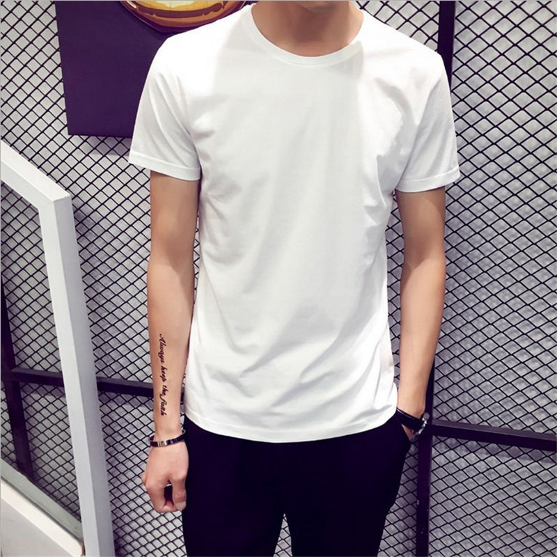 2020 Women Men's Shirt Black White Short Sleeve Summer T-shirt Men's Young Bottoming T-shirts Men's Clothing Couple Shirts