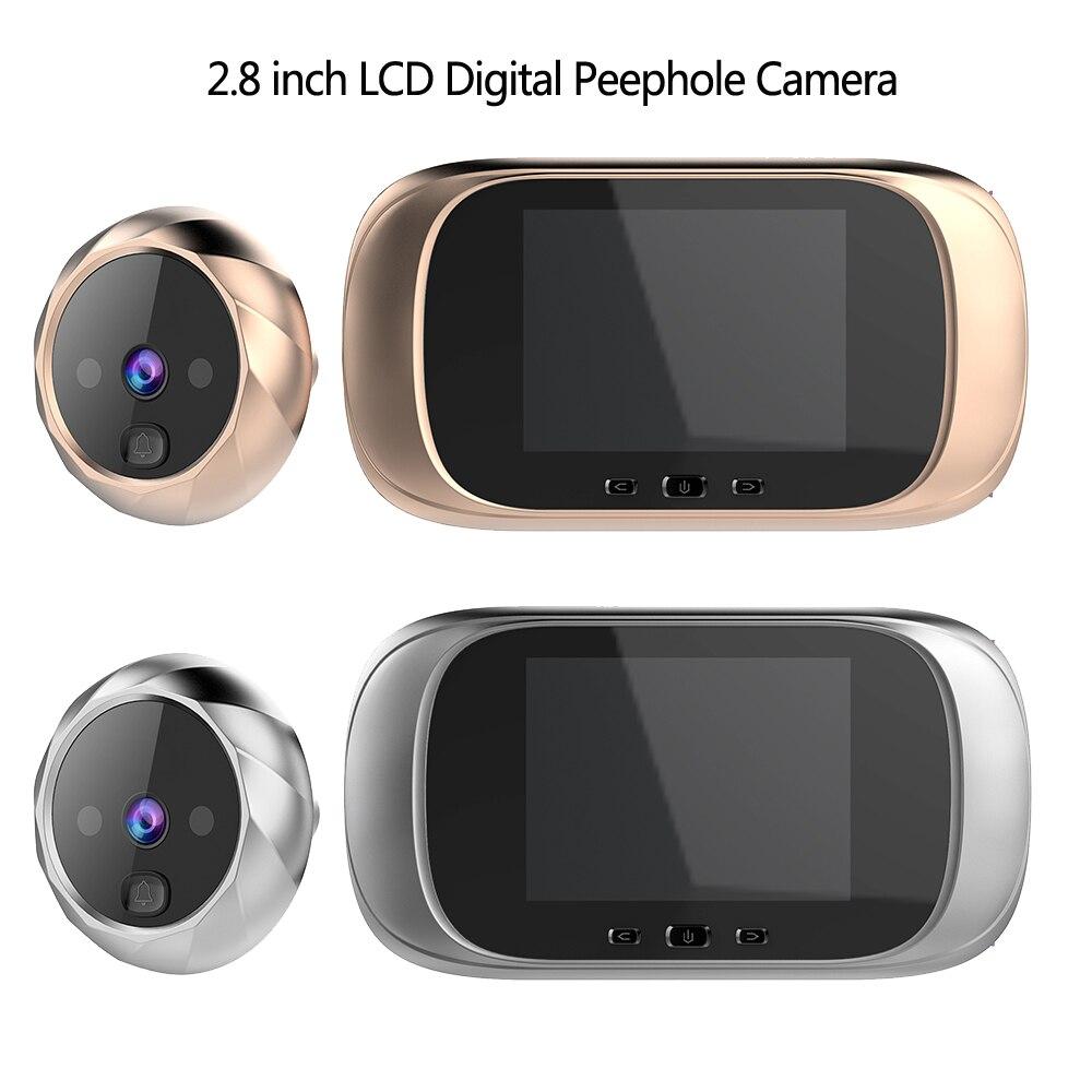 2.8 inch LCD Color Screen Digital Doorbell 90 Degree Door Eye Doorbell Electronic Peephole Door Camera Viewer Outdoor Door Bell