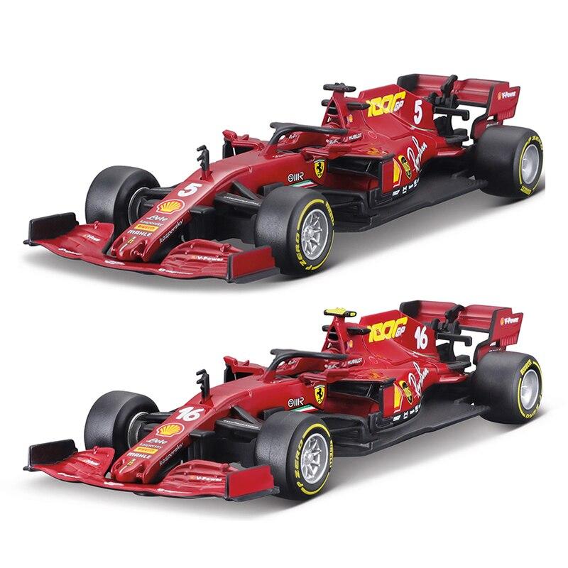 Bburago 1:43 2020 sf1000 sf90 sf71h sf70h sf16h #5 #7 #16 f1 corrida fórmula carro simulação estática diecast liga modelo carro