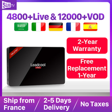 IPTV 4K Full HD French Receiver Box Leadcool Pro Android 8.1 RK3229 WIFI Decoder Subscription SUBTV Arabic Portugal Italia
