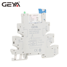 GEYA Slim Relay PLC Interface Hongfa Relay Screw Socket 6A Relay 24VDC/AC Relay Socket 6.2mm thickness