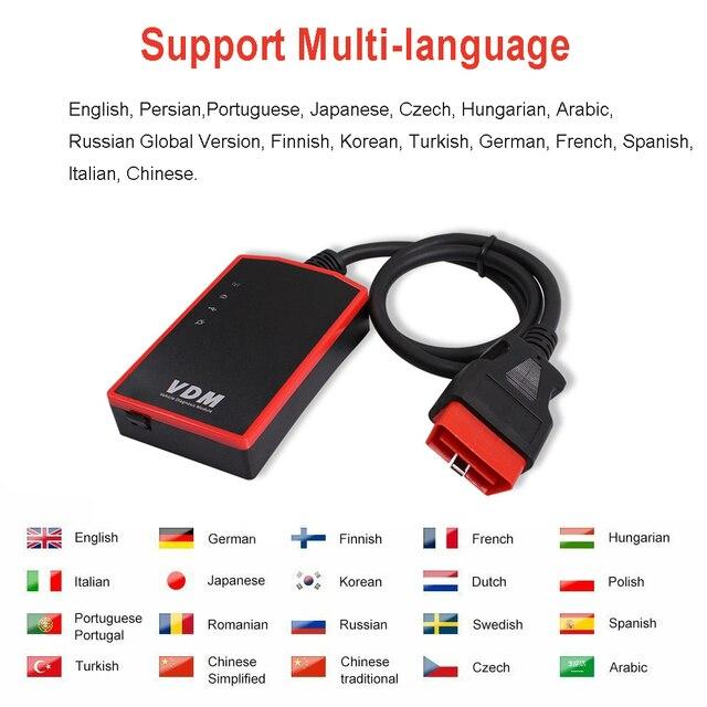 UCANDAS VDM OBD2 Code Reader Full System Wireless Diagnostic Tools for car support Wins Andriod V5.2 Lifetime Free Update Online