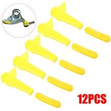 Universal 12 pçs pneu trocador parte montagem em náilon desmontar pato cabeça inserção borda protetor ferramenta acessórios