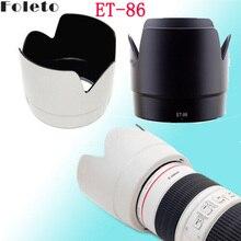 Foleto ET86 Nero/Bianco ET 86 Lens Hood Petalo Ombra 77 Millimetri Filetto per Canon Ef 70 200 Mm f/2.8L È Usm Fiore Paraluce per Obiettivi Fotografici