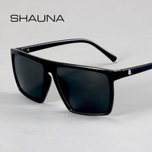 SHAUNA Retro Square Sunglasses Men Brand Designer Fashion Skull Sun Glasses UV400