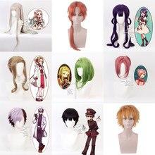 Anime toalete-bound jibaku shounen hanako-kun cosplay perucas hanako kun nene yashiro peruca de cabelo sintético