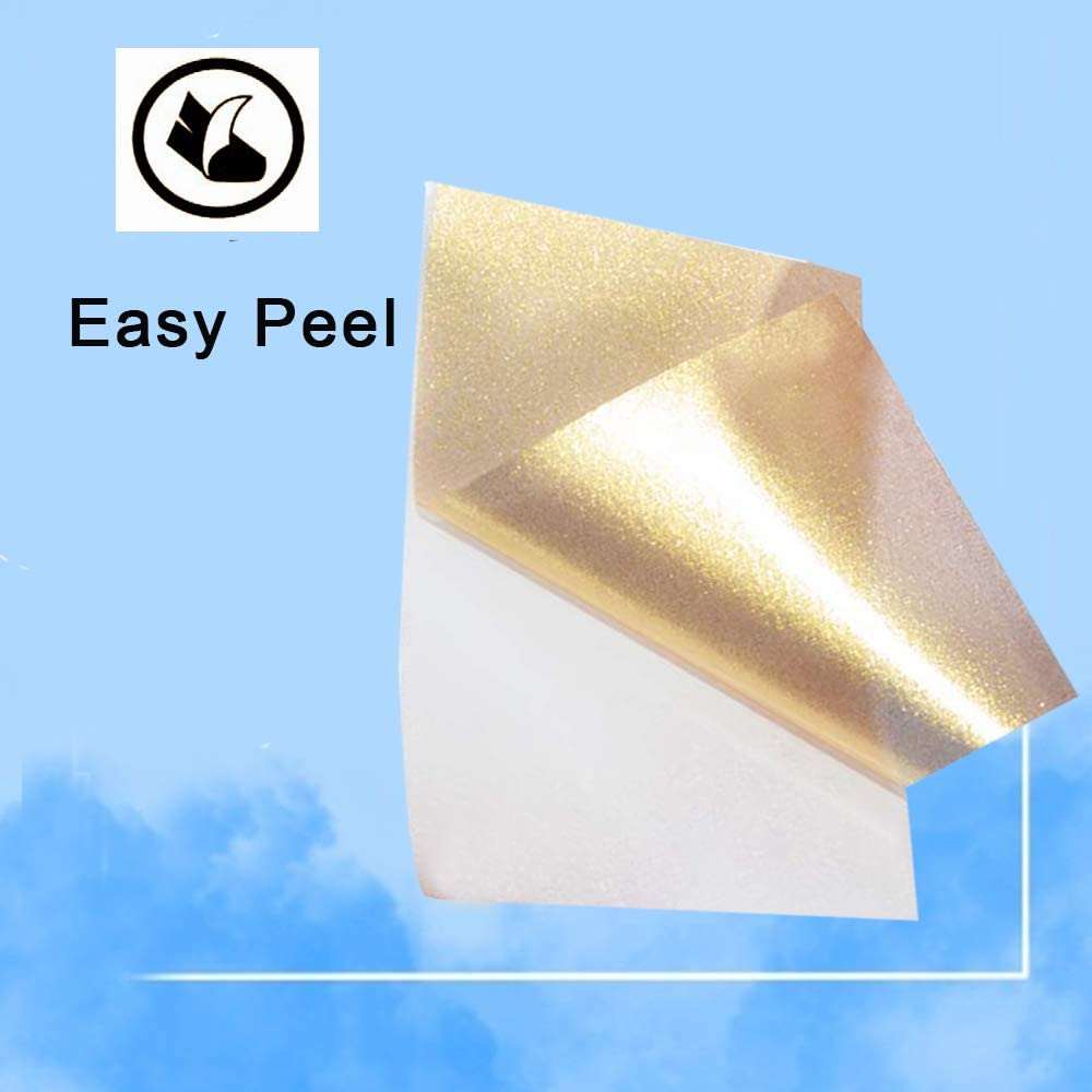 Phomemo 3 Rolls Adhesive Transparent Gold Thermal Paper for Phomemo M02/M02S Mini Bluetooth