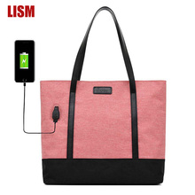 Oxford Cloth USB Charging Design Ladies Handbag High Quality Bag Large Capacity Shoulder Bags Trend 2019 New