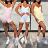 2020 Fitness Sports Dance Jumpsuit Seamless Sexy Yoga Bodysuit Jumpsuit Gym Workout Outfit Leggings Shorts Vest Women Sportwear