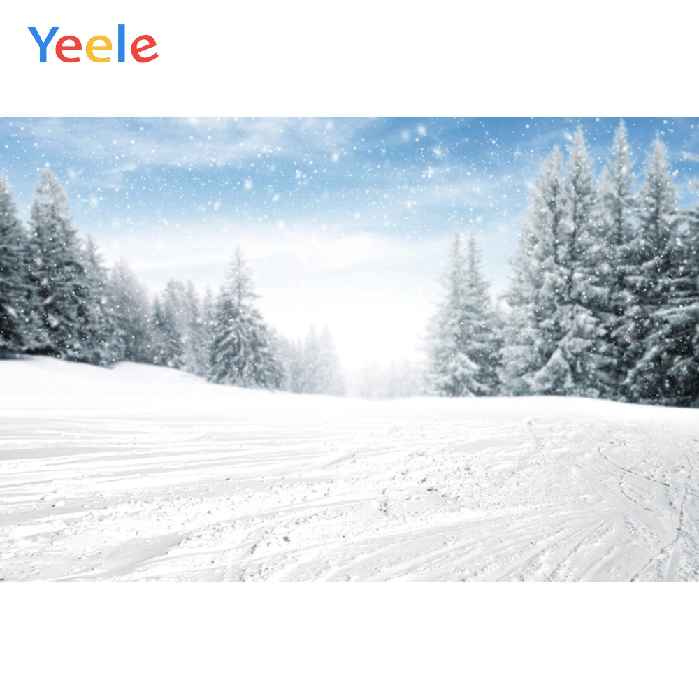 Yeele Winter Landscape Photocall Pine Forest Mount Photography Backdrops Personalized Photographic Backgrounds For Photo Studio