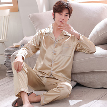 Satin men pajamas Set Mens Modern Style Sleepwears Men Sexy Soft Home Cozy Nightgown Casual Lounge Pyjama Sets Nightwear