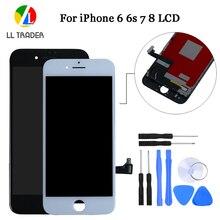 Tela lcd aaa pantalla para iphone 7 6s 8 6, touch screen, digitalizador completo para iphone 6s substituição de montagem do display 6, 7, 8, 5S