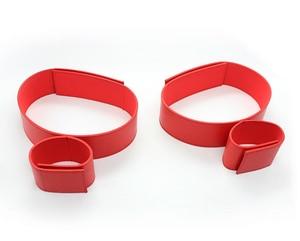 Индивидуальные наручники и ремешки на лодыжку для взрослых, игрушки, кожаный ремешок на липучке SM, Фетиш в комплекте, секс-игрушки для взрос...