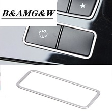 Car styling Console Panel ES Button Frame stainless steel Stickers Trim For Mercedes Benz E Class w212 2012-2015 Car Accessories