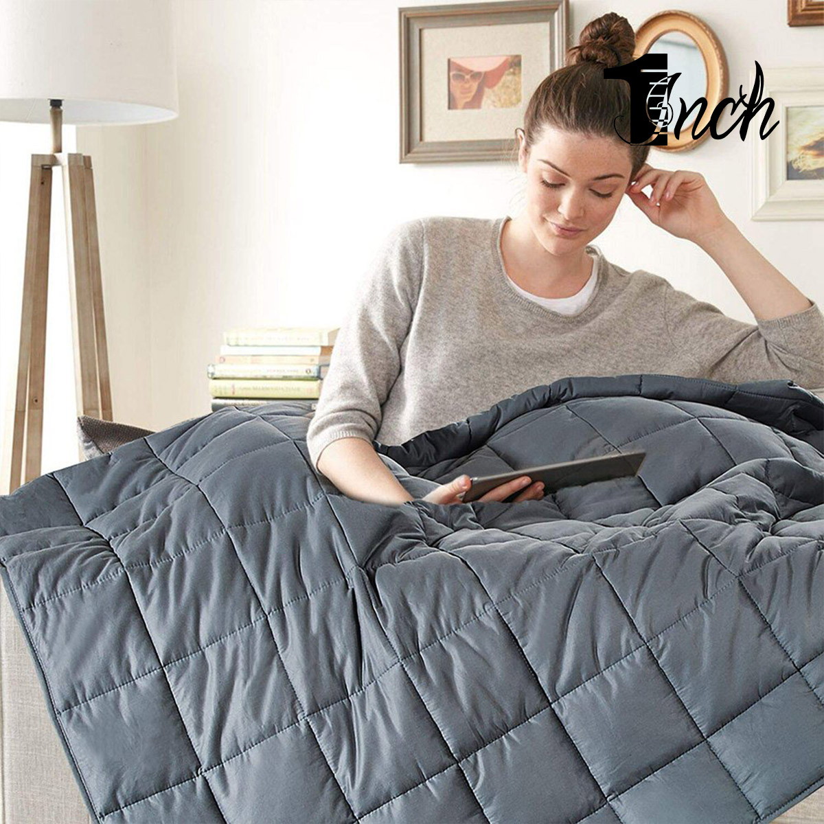 1inchome 15/20lbs Weighted Blanket Luxury Duvet Reduce Stress Blanket Help Deep Sleep Weighted Blanket Home Linens In Bed Room