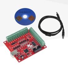 Placa de fuga cnc usb mach3 100khz 4 eixos interface driver controlador movimento placa motorista