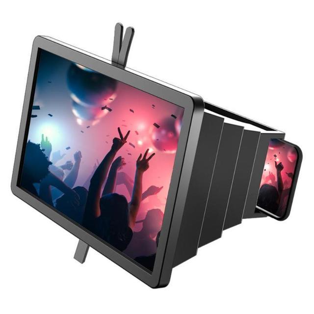 14 携帯電話画面拡大鏡ブラケットスタンドスマートフォンデスクトップ増幅引伸映画ビデオディスプレイアンプ