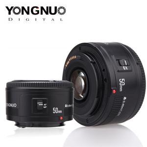 Объектив 50 мм YONGNUO F1.8, диафрагма для DSLR камеры EF, автофокус, полная Рамка