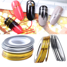 0.5mm Gold Silver Striping Tape Line Nail Art Stickers Polish Transfer Nail Wire Foils Adhesive Decal Manicure Decoration