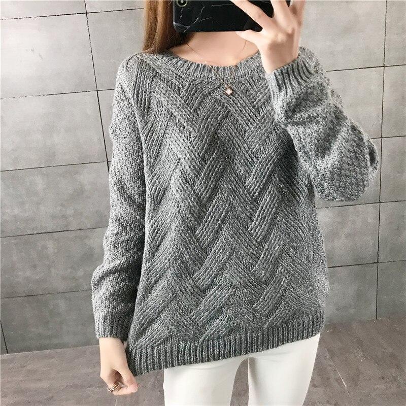 Новая мода 2019 женский осенне-зимний брендовый свитер с вышивкой пуловеры Теплые трикотажные свитера пуловеры женские