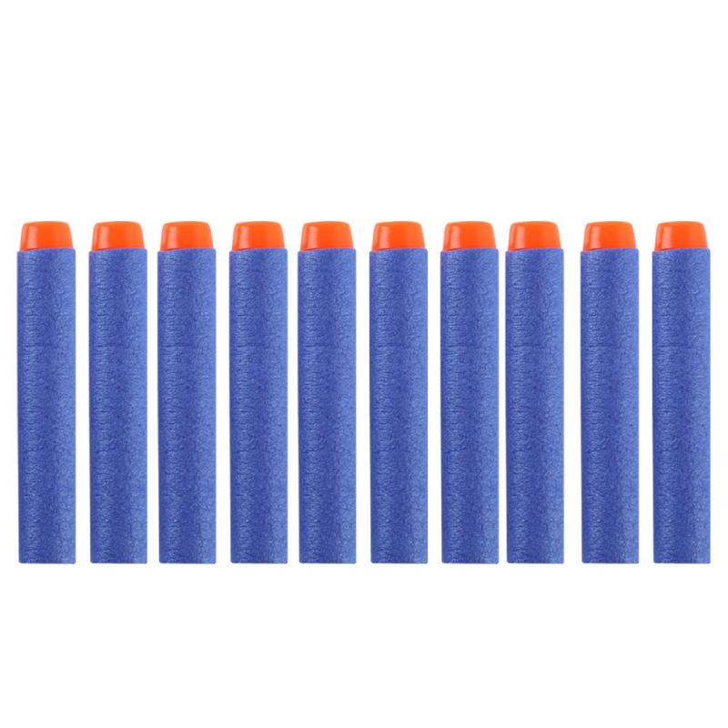 NEW 100pcs For Nerf Bullets EVA Soft Head Refill Bullet Darts For Nerf Toy Gun Accessories For Nerf Blasters Dropship