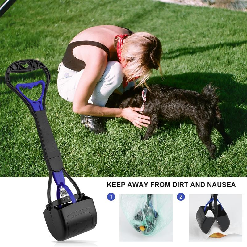 Portable Pet Poop Pickup Scooper Plastic Sawtooth Edge Small Pet Poop Pickup Clip Dogs Puppy Cat Indoor Outdoor Cleaning Shovel