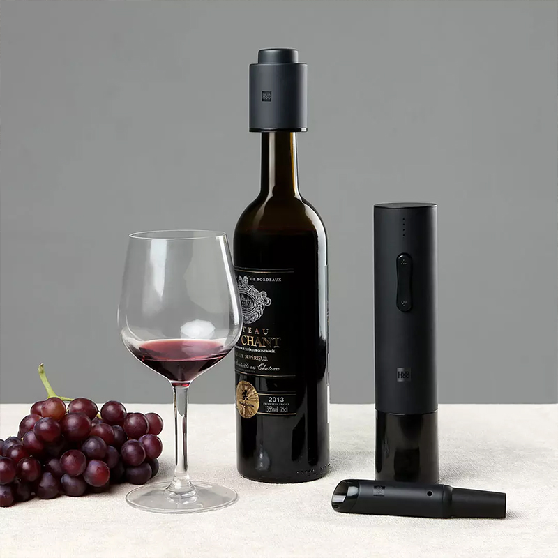 Xiaomi Huohou Automatic Bottle Opener Electric Red Wine Openers  Stopper Fast Decanter Wine Corkscrew Foil Cutter Cork Out Tool