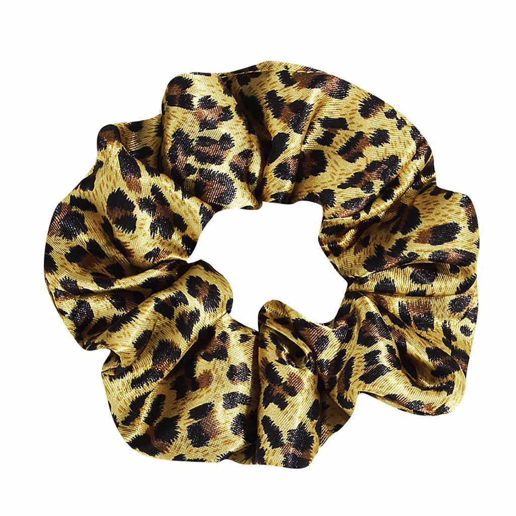 Accesorios para el cabello con banda para el cabello con estampado de leopardo y lazo para mujer