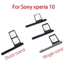 Двойной одиночный держатель sim-карты лоток Слот для sony Xperia 10 Держатель sim-карты гнездо адаптера