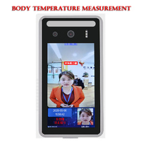 Detect Asist Face Recognition Access Control with Human Body Temperature Measurement Fahrenheit and Celsius Optional