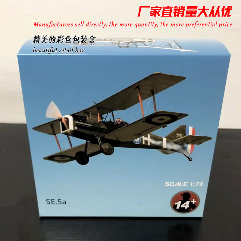 WLTK 1/72 Scale Military Model Toys WW I SE 5a Fighter Diecast Metal Plane Model Toy For Collection,Gift,Kids