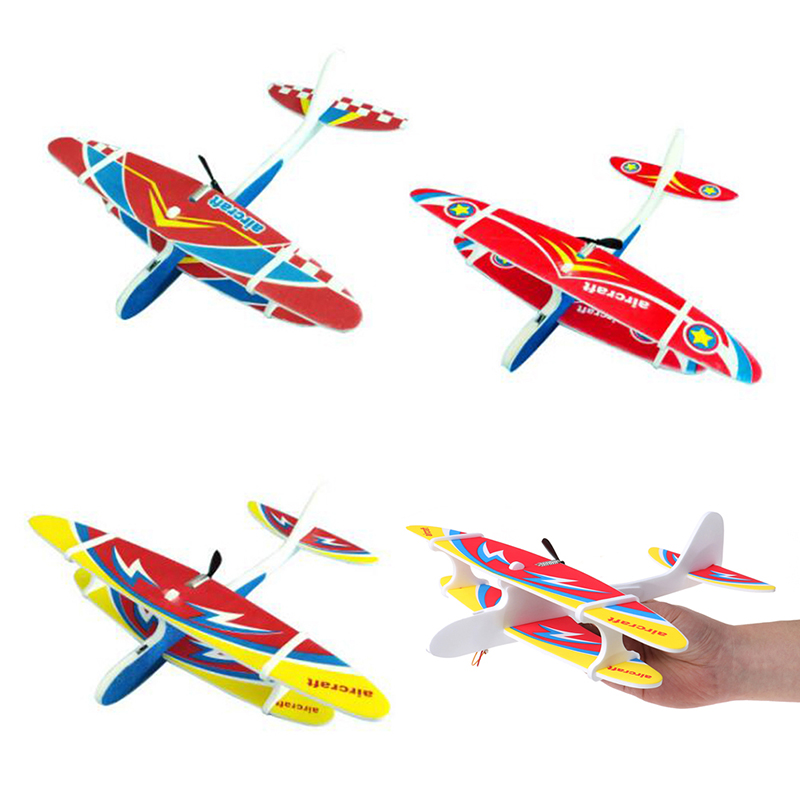 Outdoor Electric Plane LED EPP Foam Airplane Hand Launch Throwing Glider Aircraft Model Educational Toy Children Kids Adult Gift image