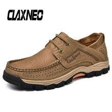 CLAXNEO Man Shoes Genuine Leather Autumn Male Casual Shoe Handmade Mens Walking Footwear Soft
