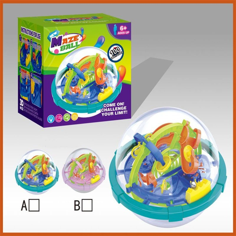 Educational Perplexus Children Attention Training Toy 3D Maze Roll-on Camera Track Spherical Maze