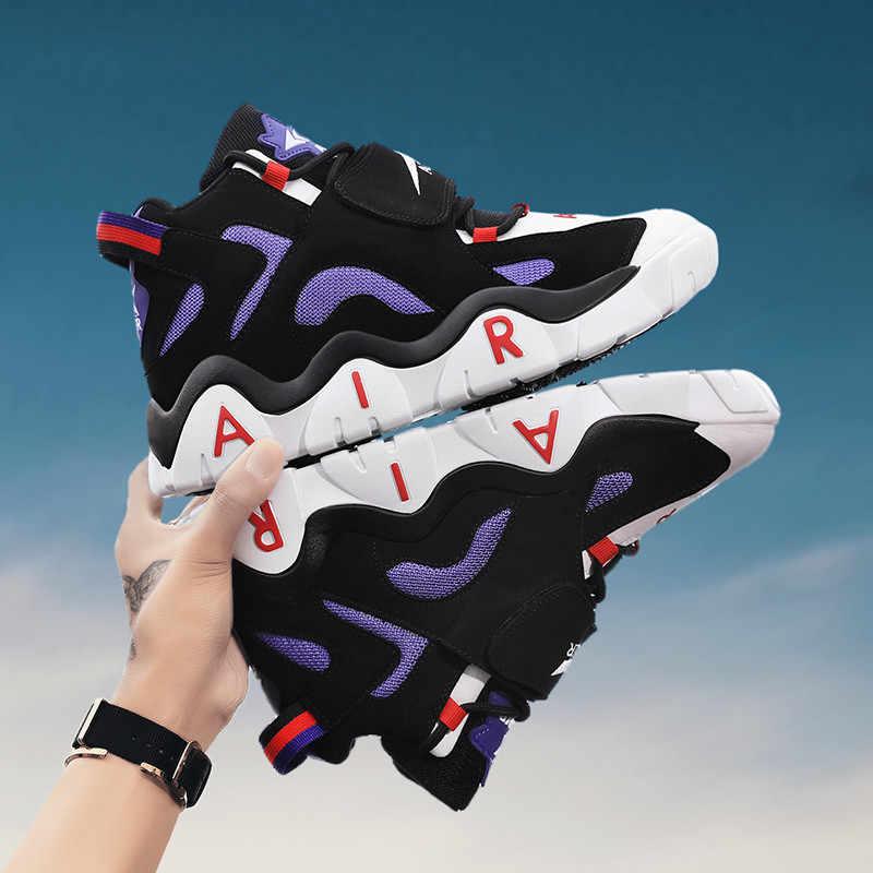 2020 ใหม่กันกระแทก JORDAN รองเท้าบาสเก็ตบอลสำหรับชายคุณภาพหนังนิ่มหนังบาสเกตบอลรองเท้าผ้าใบผู้ชาย Breathable กีฬากลางแจ้งรองเท้า