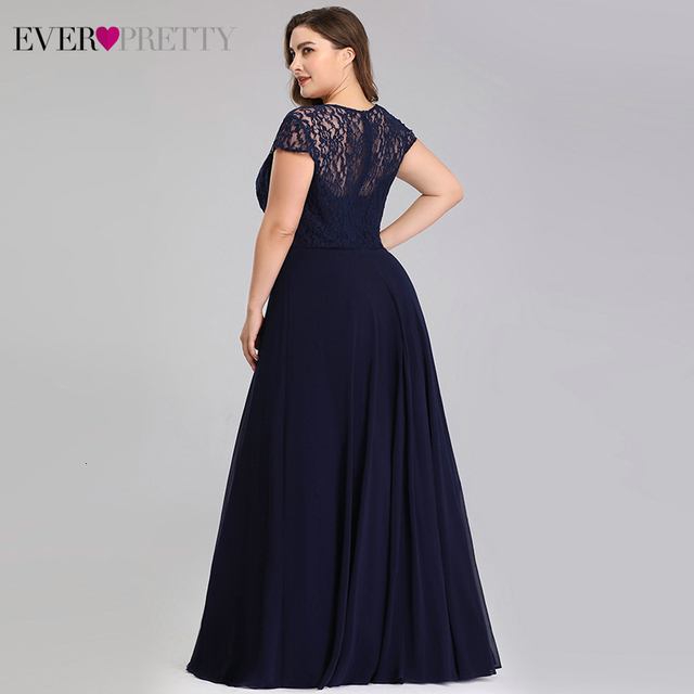 Plus Size Lace Mother Of The Bride Dresses Ever Pretty EP07986NB A-Line Sweetheart Cap Sleeve Kurti Dinner Gown Abito Sposa 2020 2