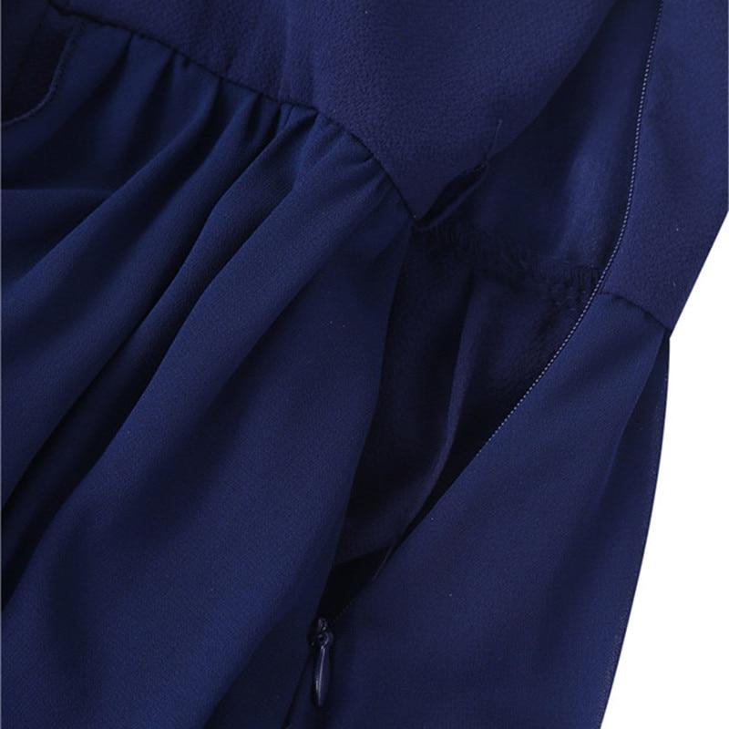 Image 4 - Floor Length Chiffon Flower Girls Dresses Princess Sleeveless V Neck Maxi Romper Dress with Rhinestone Belt For School DanceFlower Girl Dresses   -