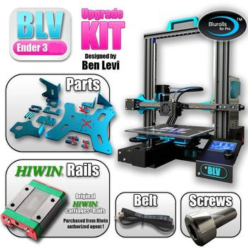 Not Assemble BLV Ender 3 3d printer upgrade kit  with Gates X belt screws and aluminum plates,genuine Hiwin Linear Rail optional