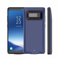 Banco de Potência portátil Para Samsung Nota 8 Recarregável Externa de Carregamento Caso ABS TPU 5500 mAh Grande Capacidade de Bateria de Backup de Telefone|Estojos p/ carregador de bateria|Telefonia e Comunicação -