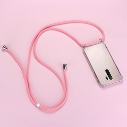Luxury Cute Lanyard Silicone Phone Case For Xiaomi Redmi Note 10 9 8 7 Mi 10 9 8 T Lite Pro Ultra-thin Necklace Rope Cover Coque