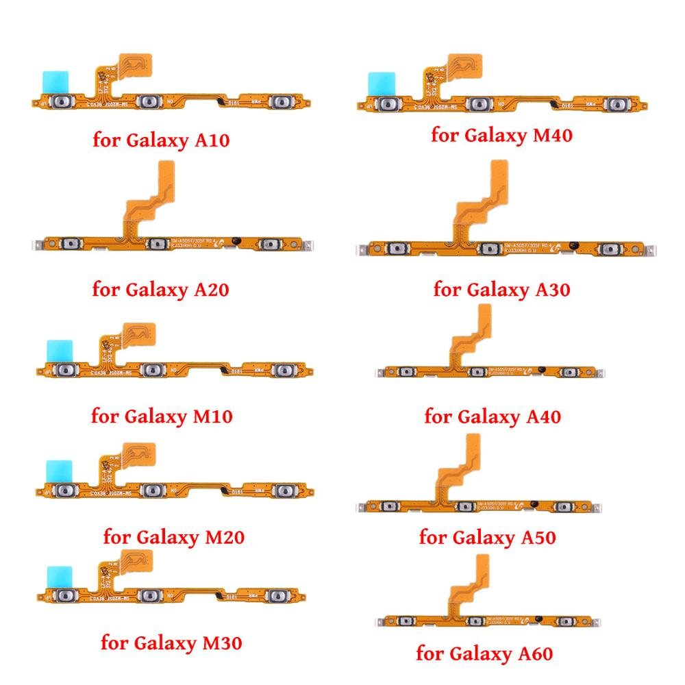 Power Flex For Samsung Galaxy A10/A20/M10/M20/M30/A30/M40/A40/A50/A60/Volume Button Switch Key Power Flex Cable With Metal Parts