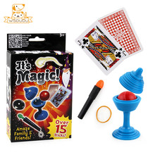 Puzzle Children Magic Set Tricks Toys Junior Simple Props Fun Family Party Classic Novelty Gifts Amazing Magician Kits Beginners
